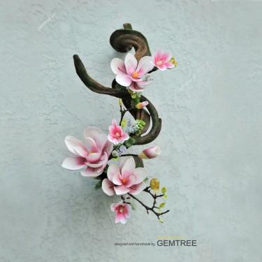 Dây leo phối hoa Mộc Lan treo D0405-1
